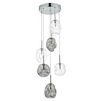 Quinn 6 Light Ceiling Pendant Light (H120 x W32 x D32cm)