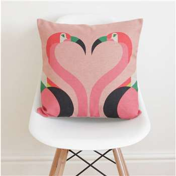 QuirkyBee - Flamingos Cushion Cover (H45 x W45cm)