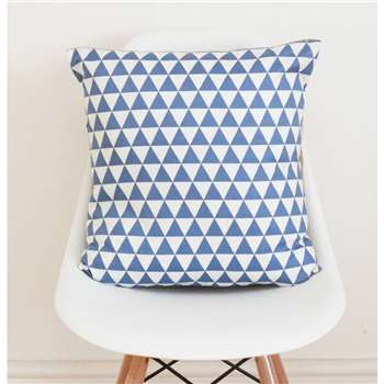QuirkyBee Geometric Blue Cushion Cover (45 x 45cm)