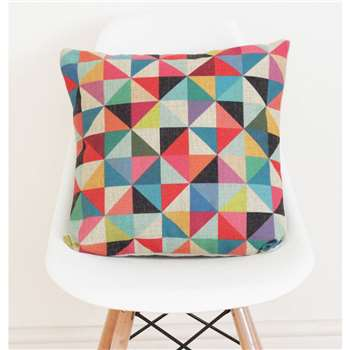 QuirkyBee Geometric Linen Cushion Cover (H45 x W45cm)