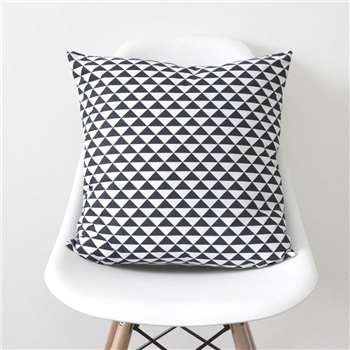 QuirkyBee Geometric Triangles Navy Cushion Cover (45 x 45cm)