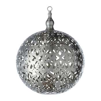 RABIA non-electric metal globe pendant D 40 cm