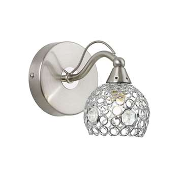 Radcliffe Wall Light Satin Nickel (H11 x W10cm)