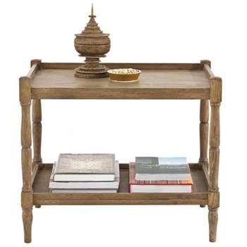 Radnor Large Sofa Side Table, Weathered Oak (60 x 70cm)