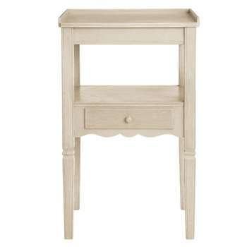Radnor Wood Bedside Table - Linen Grey (65 x 40cm)