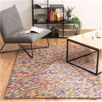 RAINBOW woollen rug, multicoloured (160 x 230cm)