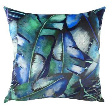 Rainforest Blues Tropical Cushion (H43 x W43cm)