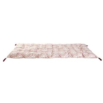 RAJA Pink Cotton Futon with White Graphic Print (H90 x W190cm)
