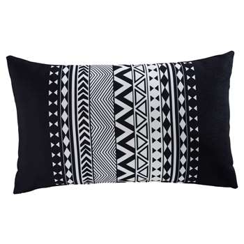 RALAYA black and white fabric graphic outdoor cushion 30 x 50 cm