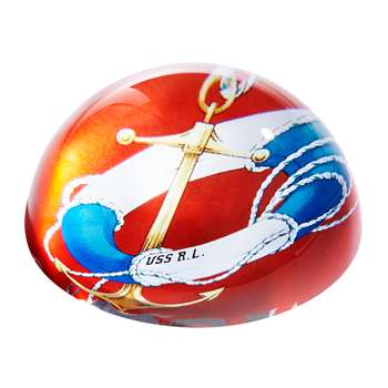 Ralph Lauren Home - Lifebuoy Lydia Paperweight (H5.5 x W11.1 x D11.1cm)