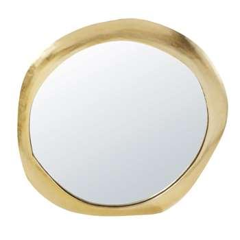 RAMAAN - Gold Metal Mirror (H88.5 x W84.5 x D3cm)