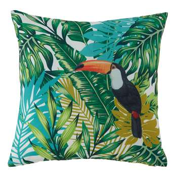 RAMPHASTOS plant print outdoor cushion (45 x 40 cm)