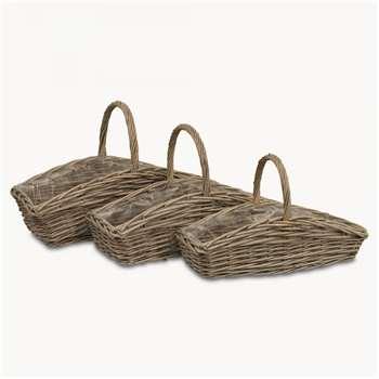 Randwick Rectangular Willow Baskets Set of 3 (41 x 67cm)
