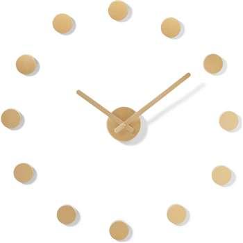 Rani Circle Markers DIY Clock, Brushed Brass
