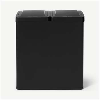 Rask 60L Touch-Free Sensor Recycling Bin, 2 x 30L, Matte Black (H68 x W59 x D29cm)