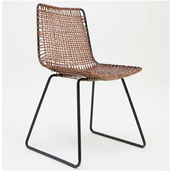 Rattan Dining Chair (H76 x W65 x D80cm)