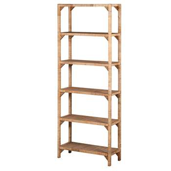 Rattan Six Shelf Unit (H164 x W61 x D25cm)