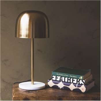 Raum Brass Table Lamp (H46 x W21 x D21cm)