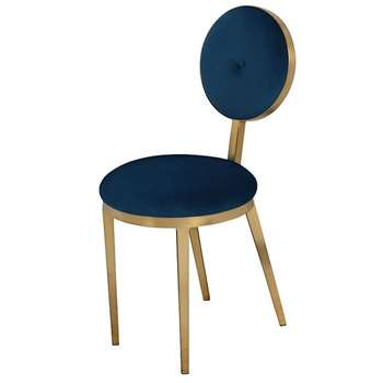 Ravello Dining Chair - Navy Blue (H90 x W42 x D55cm)