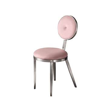 Ravello Dining Chair Silver  - Blush Pink (H90 x W42 x D55cm)
