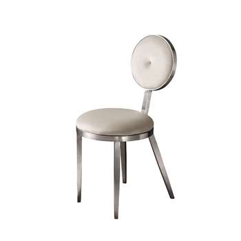 Ravello Dining Chair Silver - Chalk (H90 x W42 x D55cm)