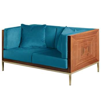 Ravello Two Seat Sofa - Teal (H75 x W145 x D86cm)
