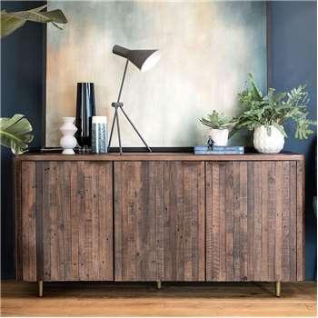 Reclaimed Dark Sideboard (H75 x W150 x D45cm)