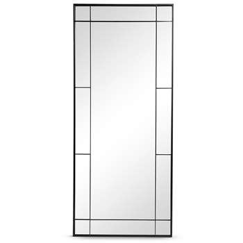 Rectangle Window Mirror, Black Mix (H140 x W60 x D2.5cm)
