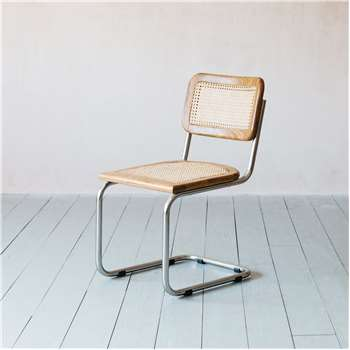 Recycled Teak and Chrome Chair (H84 x W46.5 x D58cm)