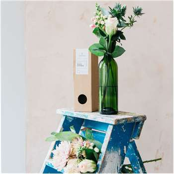 Recycled Wine Bottle Vase (H24 x W7 x D7cm)