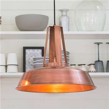 Copper Pendant Light (Diameter 34cm)