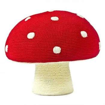 Anne-Claire Petit - Red Mushroom Kids Stool (40 x 35cm)