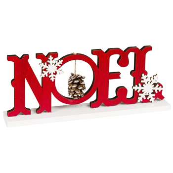 Red Noël Decorative Word (H10 x W25.5 x D4cm)
