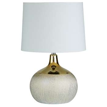 Reese Table Lamp Gold (H44 x W28 x D28cm)