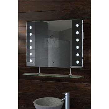 Reflex LED Bathroom Mirror with Shelf (50 x 70cm)