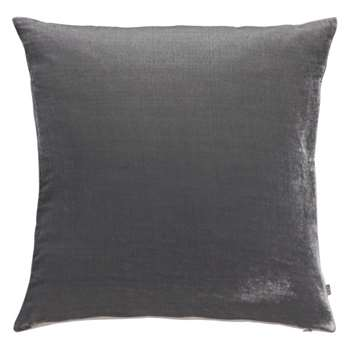 Regency Grey velvet cushion 60 x 60cm