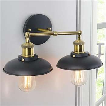 Regis Dome Double Wall Light (30 x 41cm)