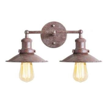 Regis Vintage Rustic Double Wall Light (43 x 55cm)