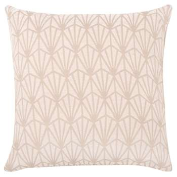 REGULAR White Cushion Cover with Beige Graphic Print (H40 x W40cm)