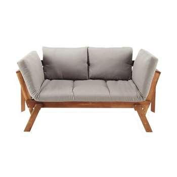 RELAX 3 seater acacia wood modular garden bench seat (70 x 214cm)