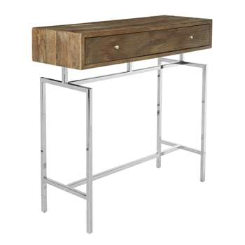 Remington Console Table - Recycled Elm (86 x 90cm)