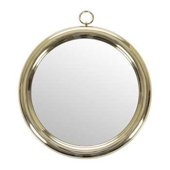 Retreat - Round Brass Frame Mirror (Diameter 61cm)