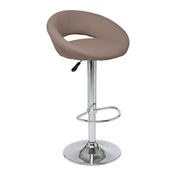Retro circles bar stool stone (H100 x W54 x D49cm)
