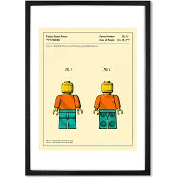 Retro Patent Framed Wall Art Print, Toy Figure (More Sizes Available) (H44 x W33 x D2cm)