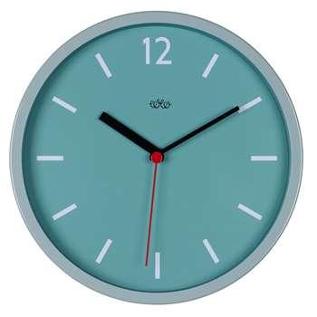 Retro Style Wall Clock in French Blue 30 x 30cm