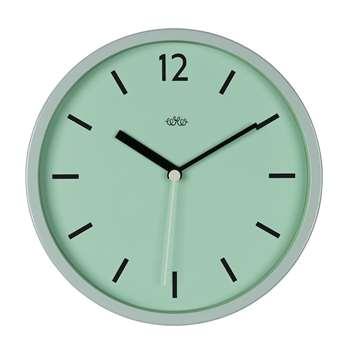 Retro Style Wall Clock in Swedish Green (Diameter 30cm)