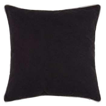 Reversible Black and White Cotton Cushion (H50 x W50cm)