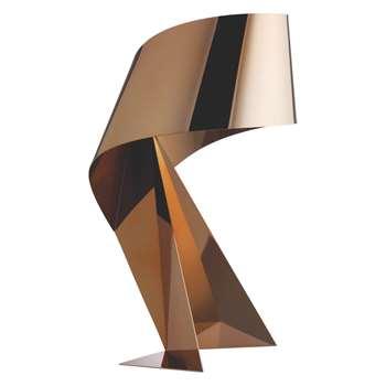 Ribbon Copper large table lamp (Width 36cm)