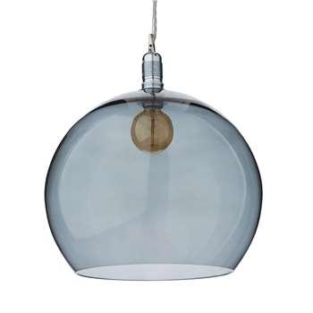 Ribe Large Pendant Lamp, Grey & Silver 39 x 39cm