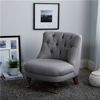 Richmond Cotton Tub Chair, Grey Cotton (74 x 64cm)